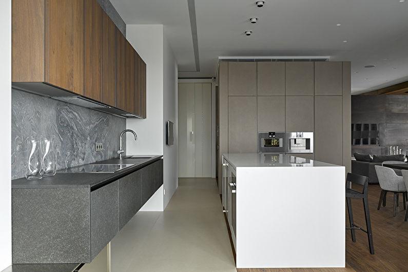 Cuisine grise high-tech - Design d'intérieur
