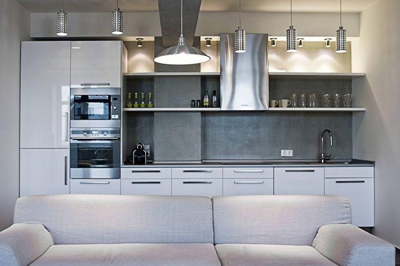 Cuisine argent high-tech - Design d'intérieur