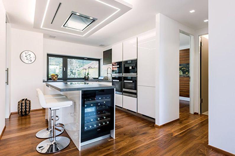 Conception de cuisine high-tech - Décoration de plafond
