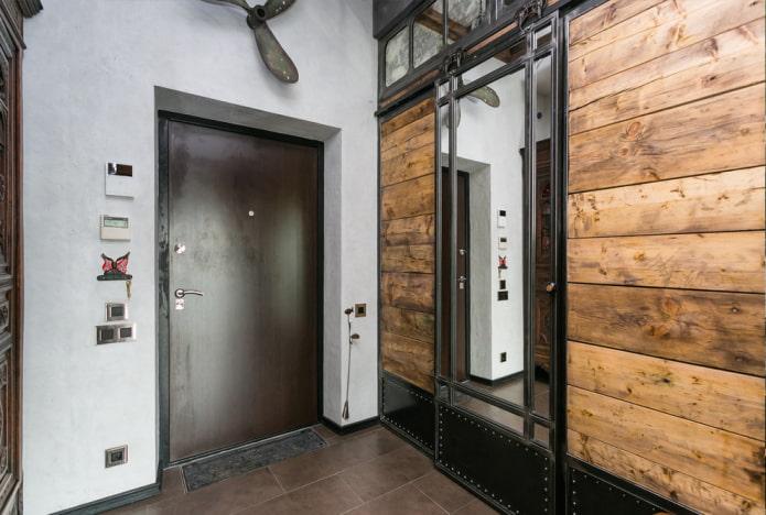 meubles à l'intérieur du couloir dans un style industriel