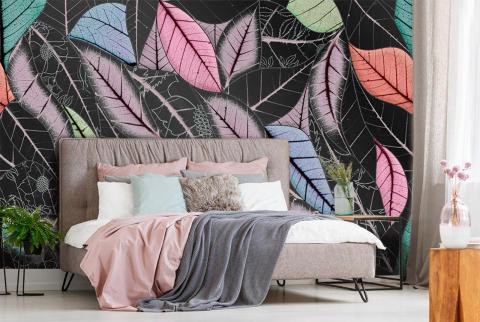 La palette de couleurs du papier peint photo de la chambre