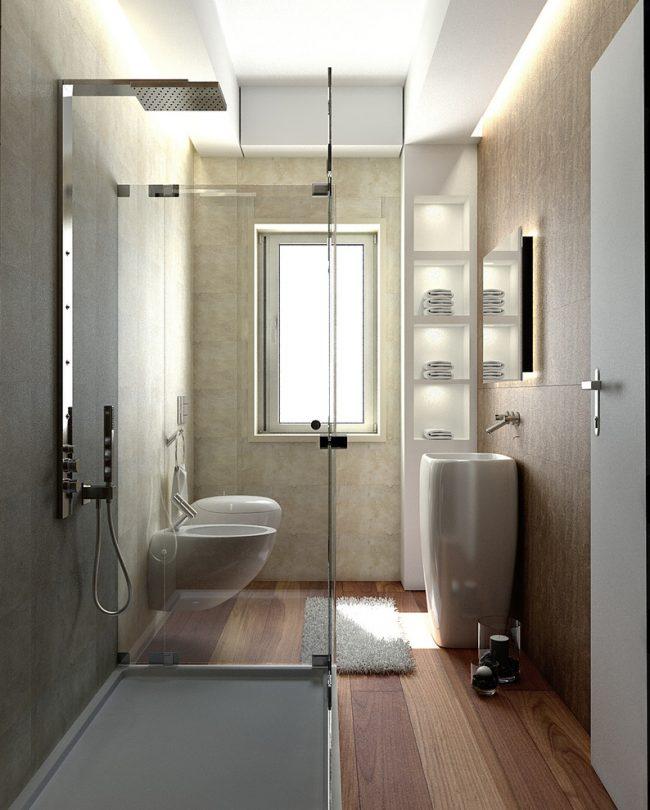 Salle de bain confortable dans un style moderne