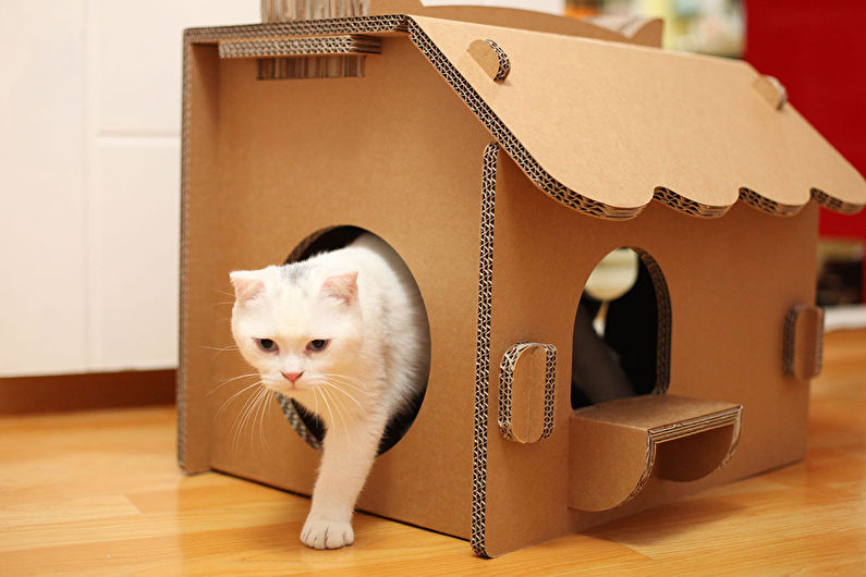 Maison pour chat - Maison en carton