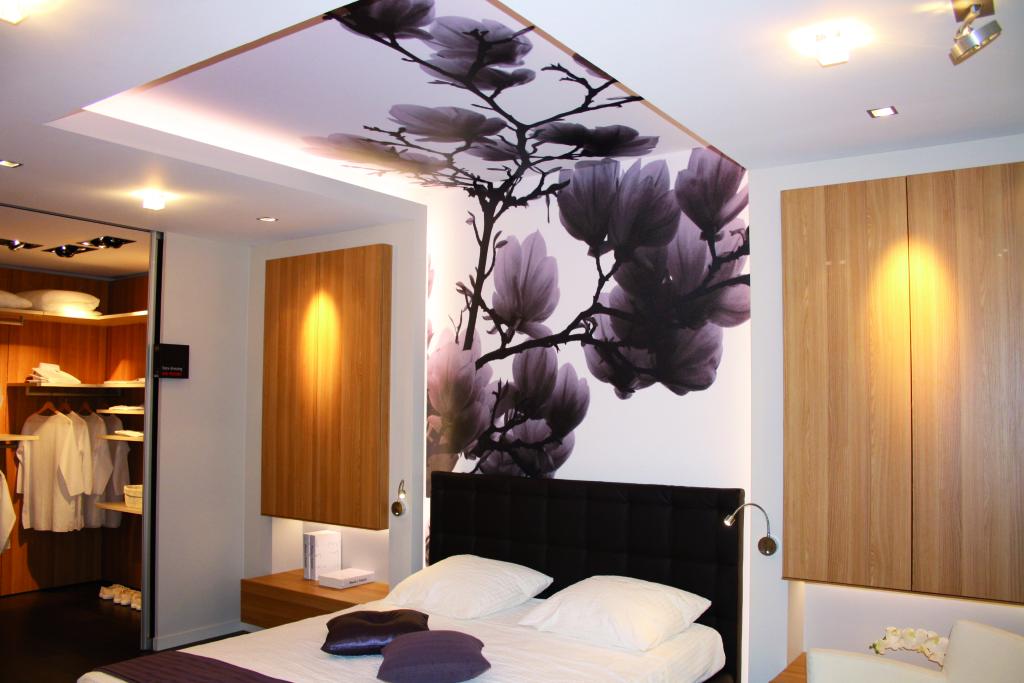 Décoration murale et au plafond très élégante et magnifique avec un seul motif floral