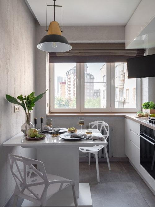 grande fenêtre de la cuisine