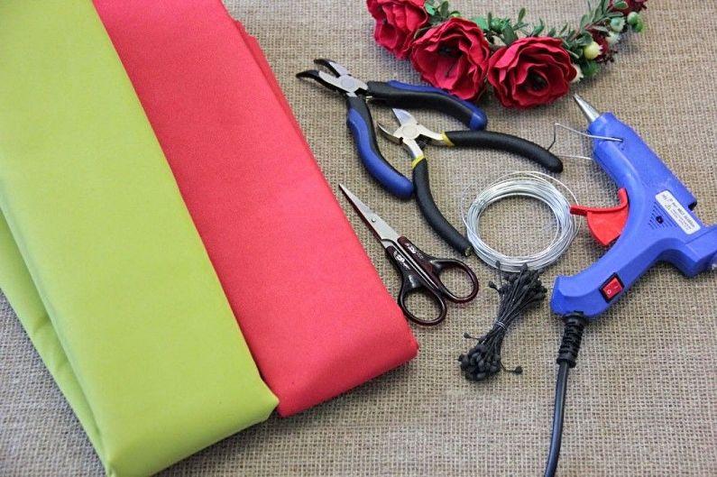 Rose Foamiran - Matériaux et outils pour le travail