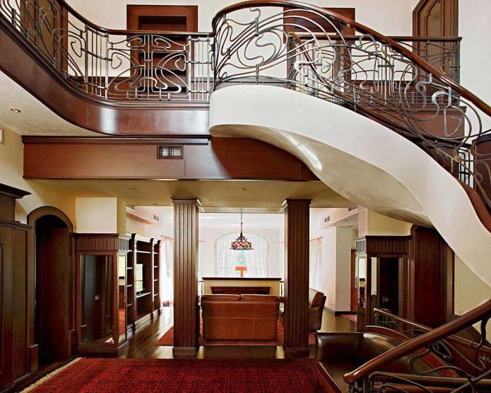 Éléments Art Nouveau dans la maison