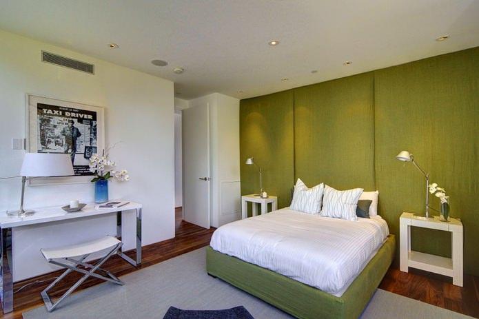mur végétalisé dans la chambre