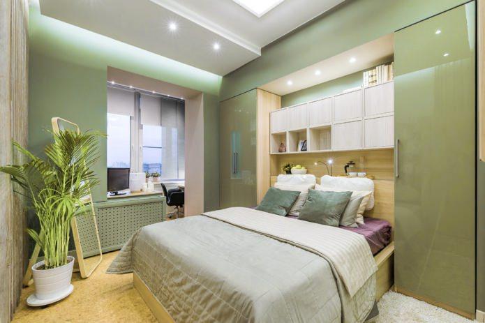 armoires brillantes dans la chambre
