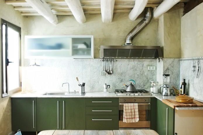 loft dans la cuisine