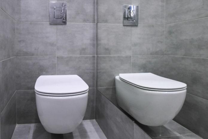 carrelage effet béton dans les toilettes