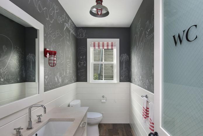 peinture ardoise dans les toilettes