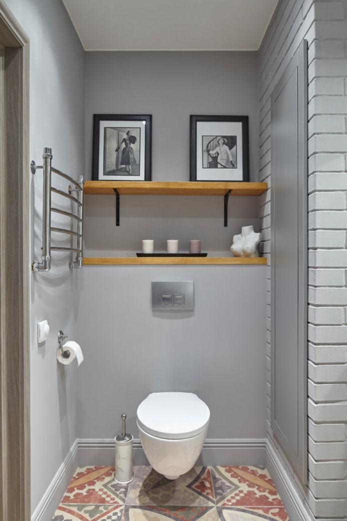 toilettes en gris