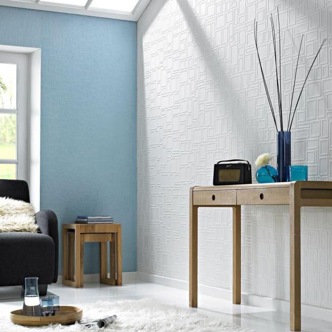 Le papier peint pour la peinture donne de temps en temps une opportunité inestimable de changer la couleur des murs avec un coût minimal et un effet maximal.