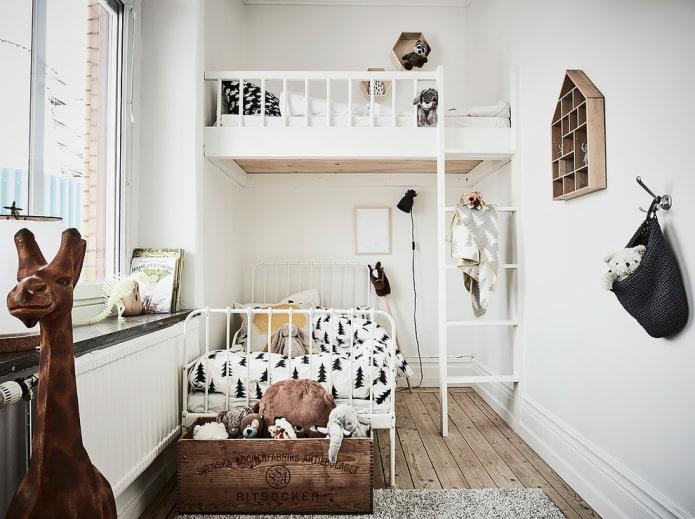 intérieur de chambre pour deux enfants