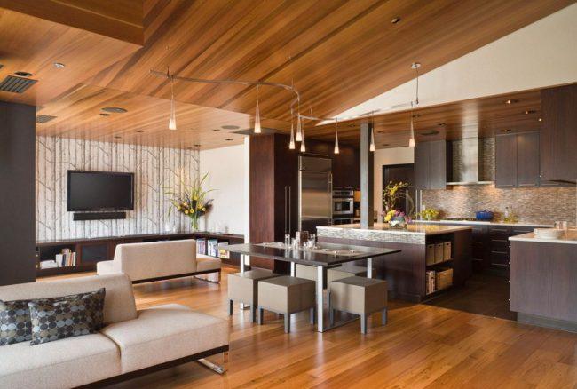 Placer un téléviseur dans la cuisine-séjour : angle de vision maximal depuis chaque zone de la pièce