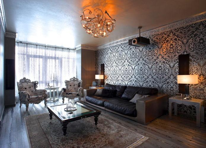 Plâtre de plafond vénitien dans le salon