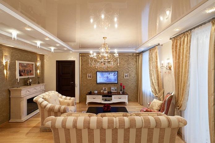 structure de plafond beige dans le hall