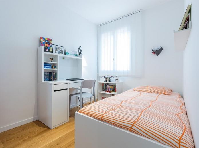 chambre design 9 carrés pour un garçon