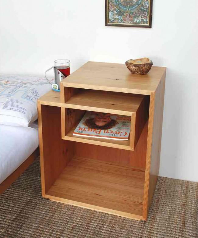 Une solution créative pour une armoire ouverte sans pieds