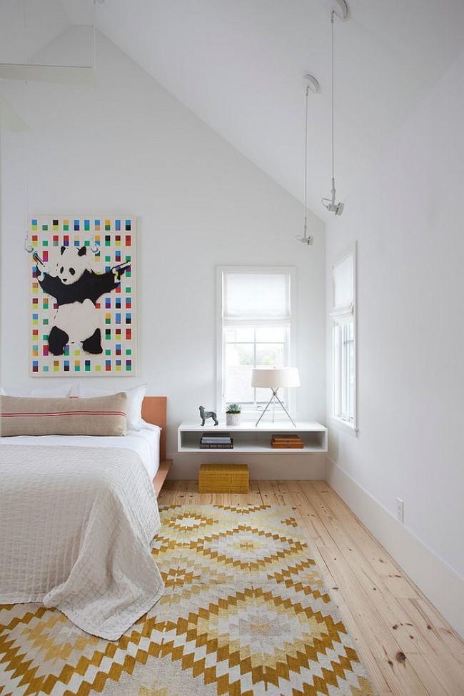 Étagère-armoire ouverte suspendue dans un intérieur moderne