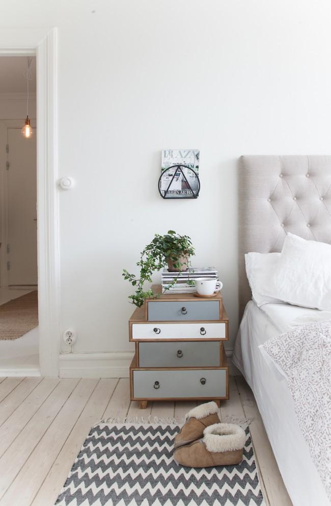 Rationnel, mais non dépourvu d'ajouts décoratifs, intérieur de style scandinave
