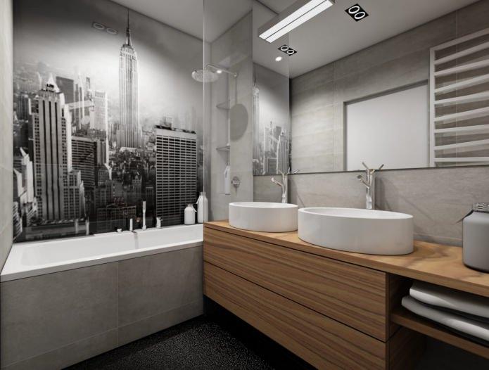 impression photo dans la salle de bain