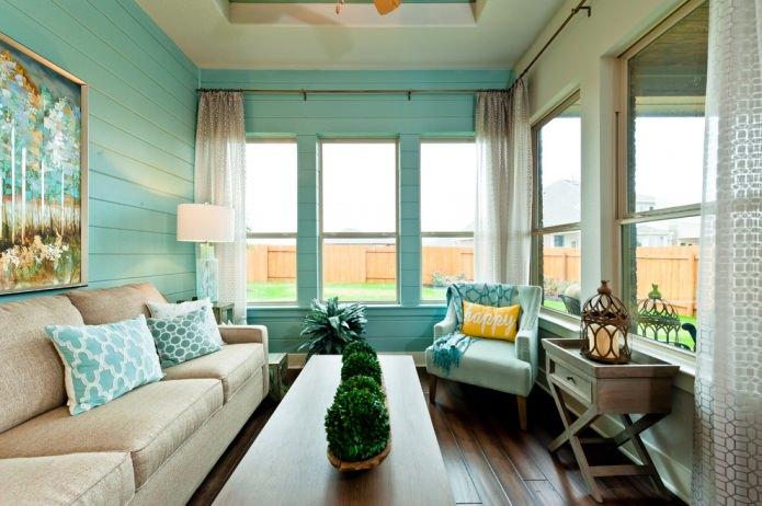 salon compact d'une maison privée