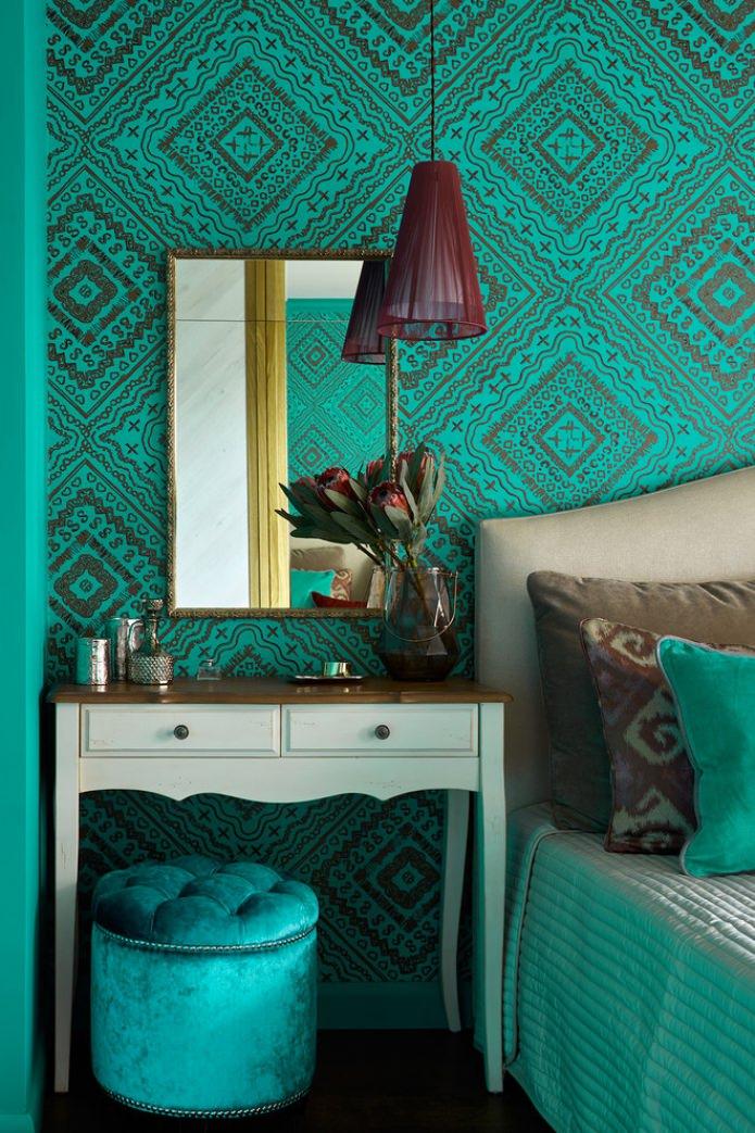 papier peint aux couleurs turquoises