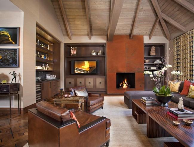 Un mur de style classique parfait pour un salon spacieux