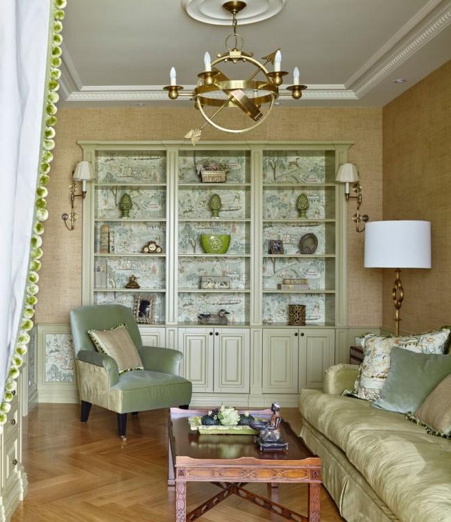 Un magnifique mur à l'intérieur du salon