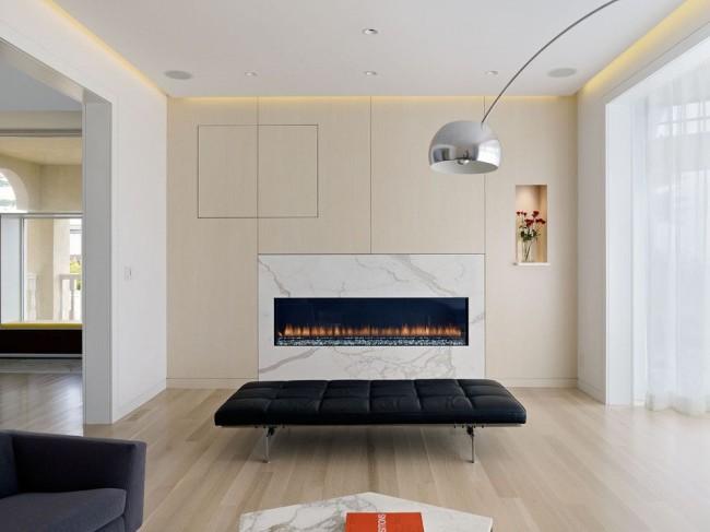 Mur spectaculaire dans le style du minimalisme