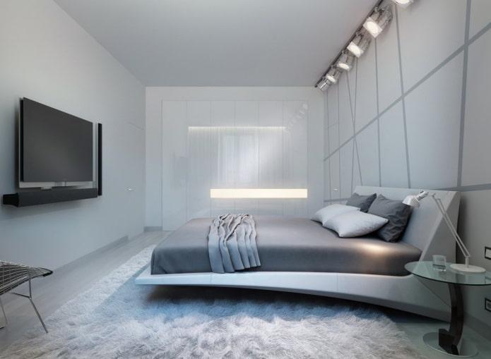 palette de couleurs de chambre high-tech