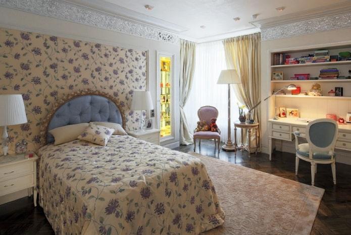 Tête de lit semi-circulaire avec croisillon