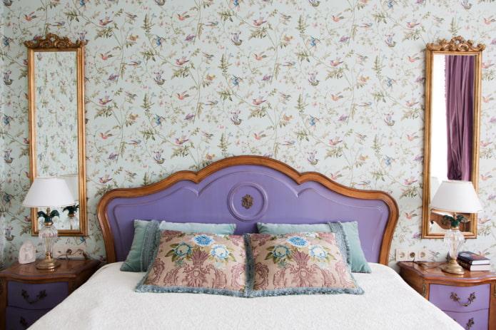 Fraisage sur une tête de lit lilas