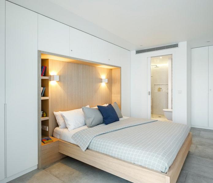 Tête de lit dans une niche