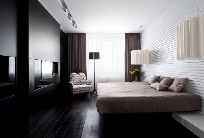 mur à lattes en tête de lit