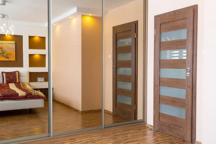 portes avec inserts en verre horizontaux