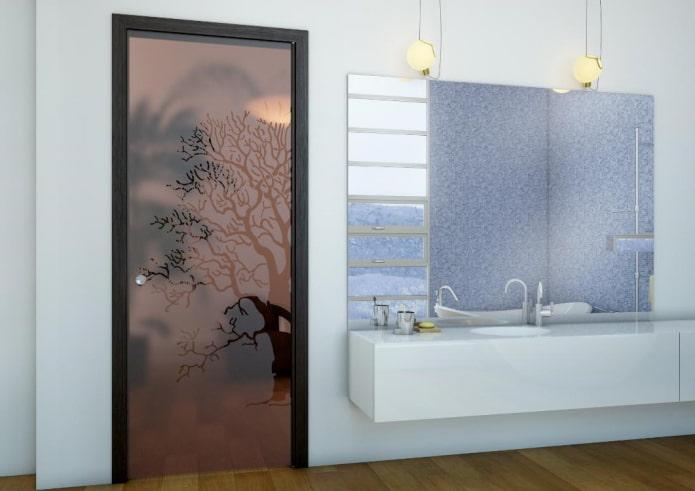 portes avec verre teinté