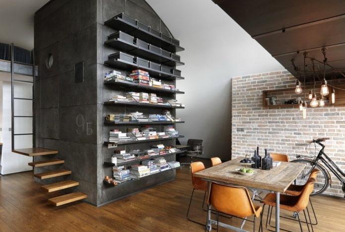 étagères horizontales à l'intérieur de la cuisine