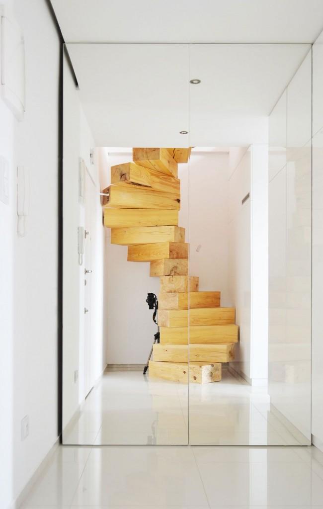 Conception inhabituelle d'escalier en colimaçon