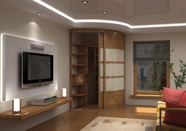 Les armoires coulissantes radiales sont une tendance moderne dans la création de meubles d'armoire