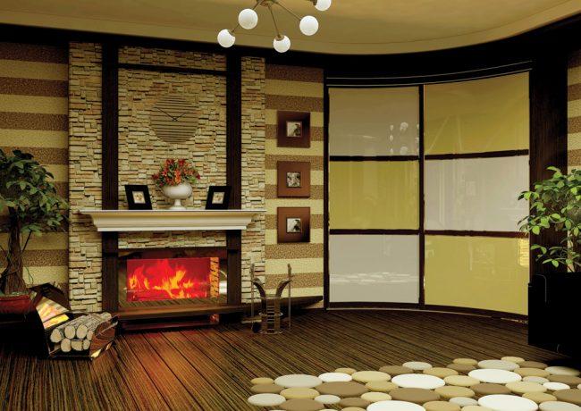 Les armoires radiales deviennent très populaires dans les intérieurs modernes.