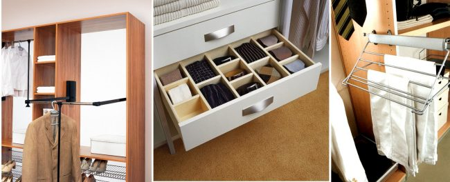 Divers tiroirs et systèmes rendront votre garde-robe très pratique.