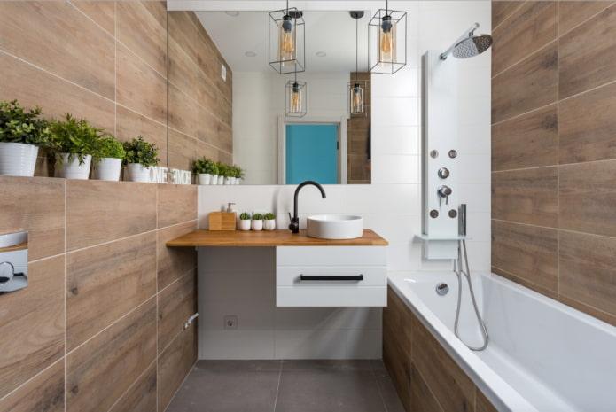 Salle de bain avec un bol