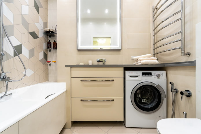 ameublement de salle de bain dans le style du minimalisme