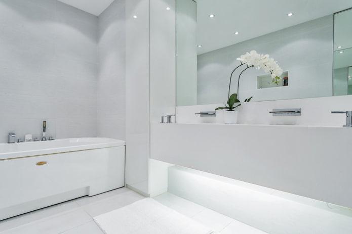 conception des couleurs de la salle de bain dans le style du minimalisme