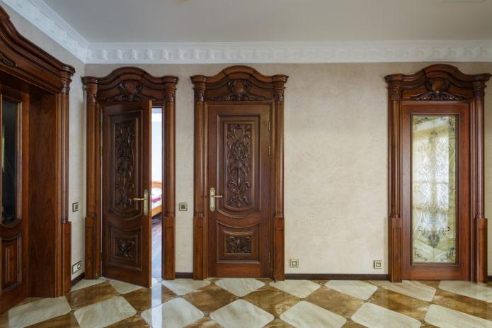 portes intérieures en bois massif