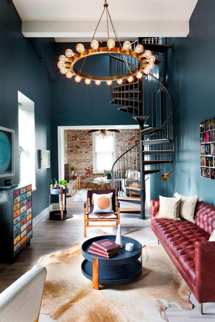 escalier dans le salon
