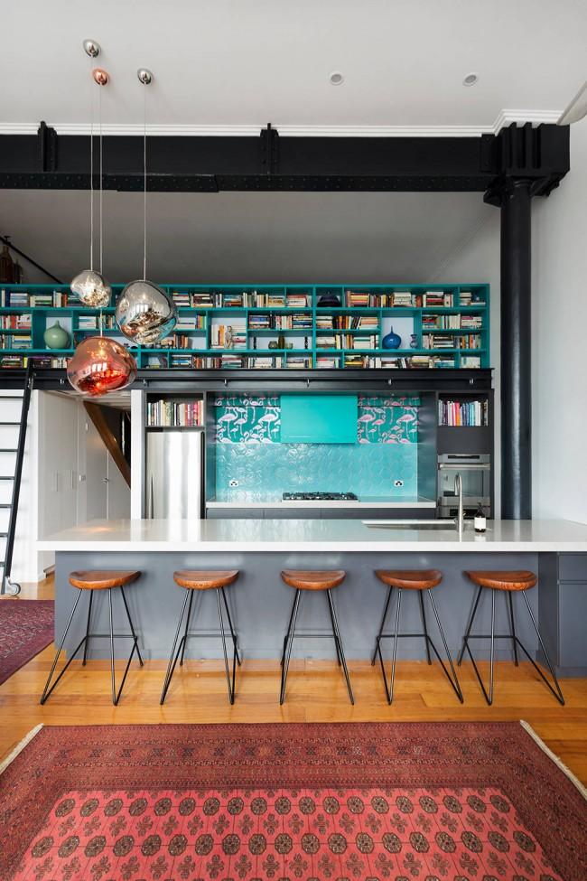 Belle cuisine de style loft